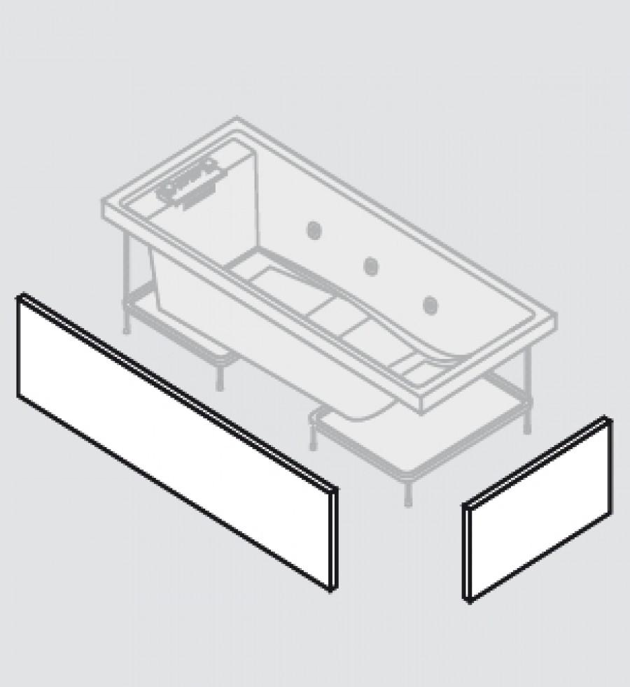 baignoire baln o 170x75 sense 4 dream air 2 tabliers meuble de salle de. Black Bedroom Furniture Sets. Home Design Ideas