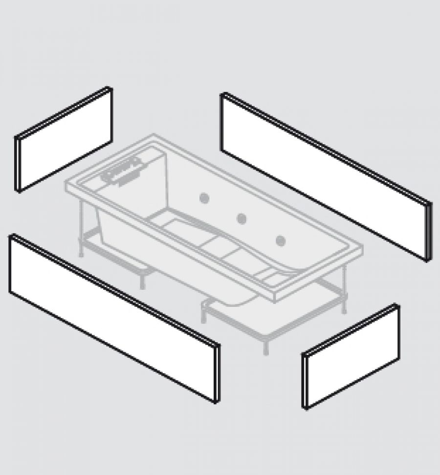 baignoire baln o 170x75 sense 4 dream air 4 tabliers meuble de salle de. Black Bedroom Furniture Sets. Home Design Ideas