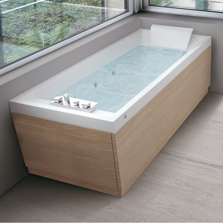 Baignoire baln o 170x70 sense 4 dream air 1 tablier meuble de salle de for Baignoire salle de bain tablier