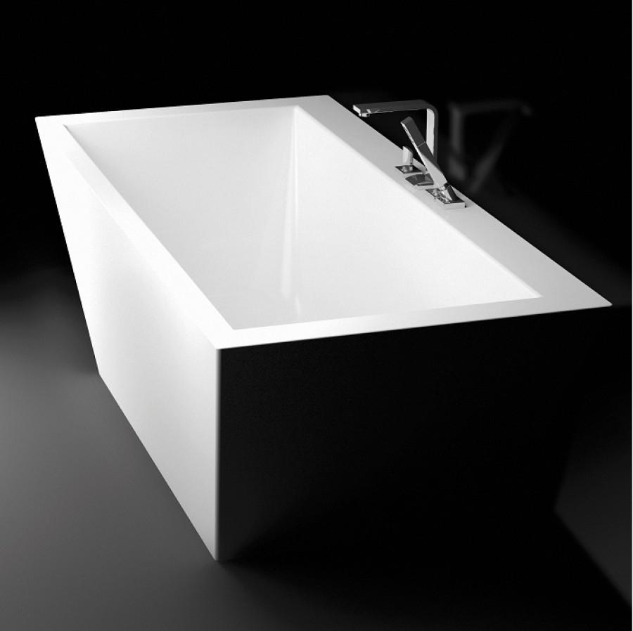 Baignoire murale design cedam 180x80 thebes meuble de salle de bain douche - Baignoire ilot murale ...