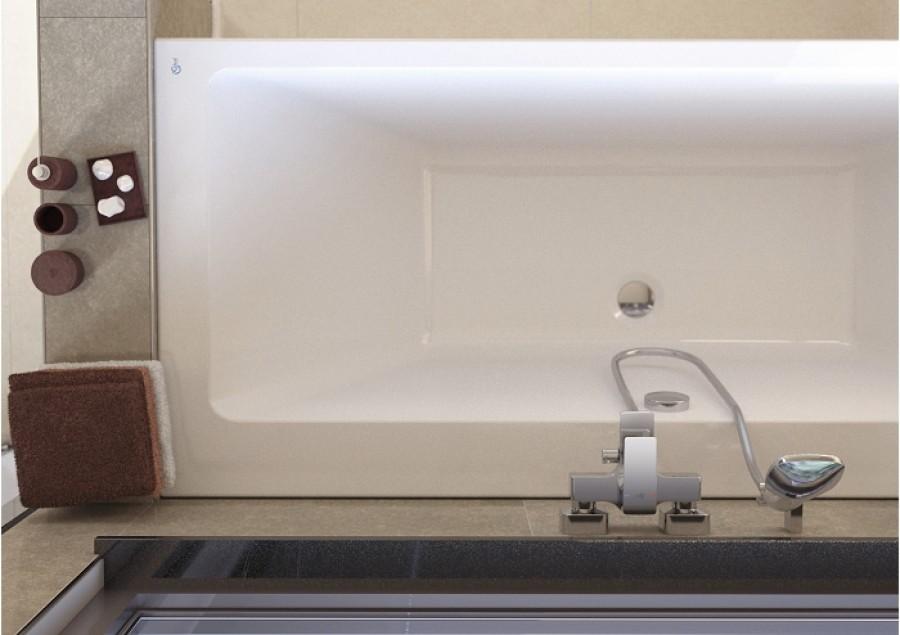 baignoire nue double t te rectangulaire 180x80. Black Bedroom Furniture Sets. Home Design Ideas
