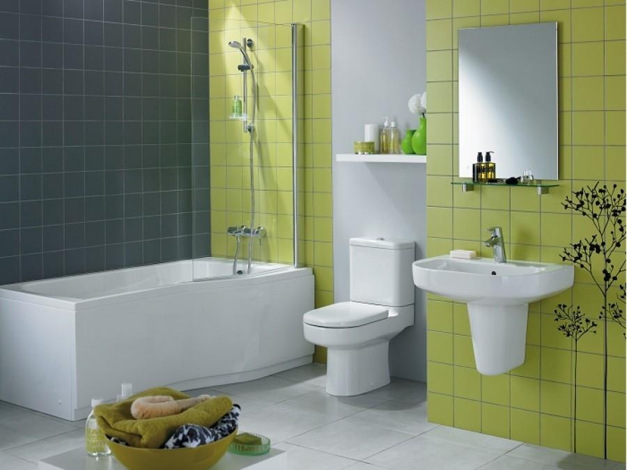Baignoire douche asym trique kheops meuble de salle de b - Tablier salle de bain ...
