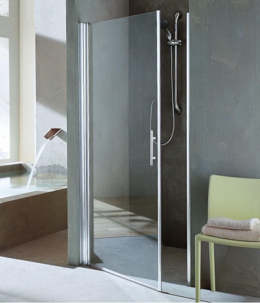 porte de douche pivotante young 1b 60 66 transparent silver meuble de salle. Black Bedroom Furniture Sets. Home Design Ideas