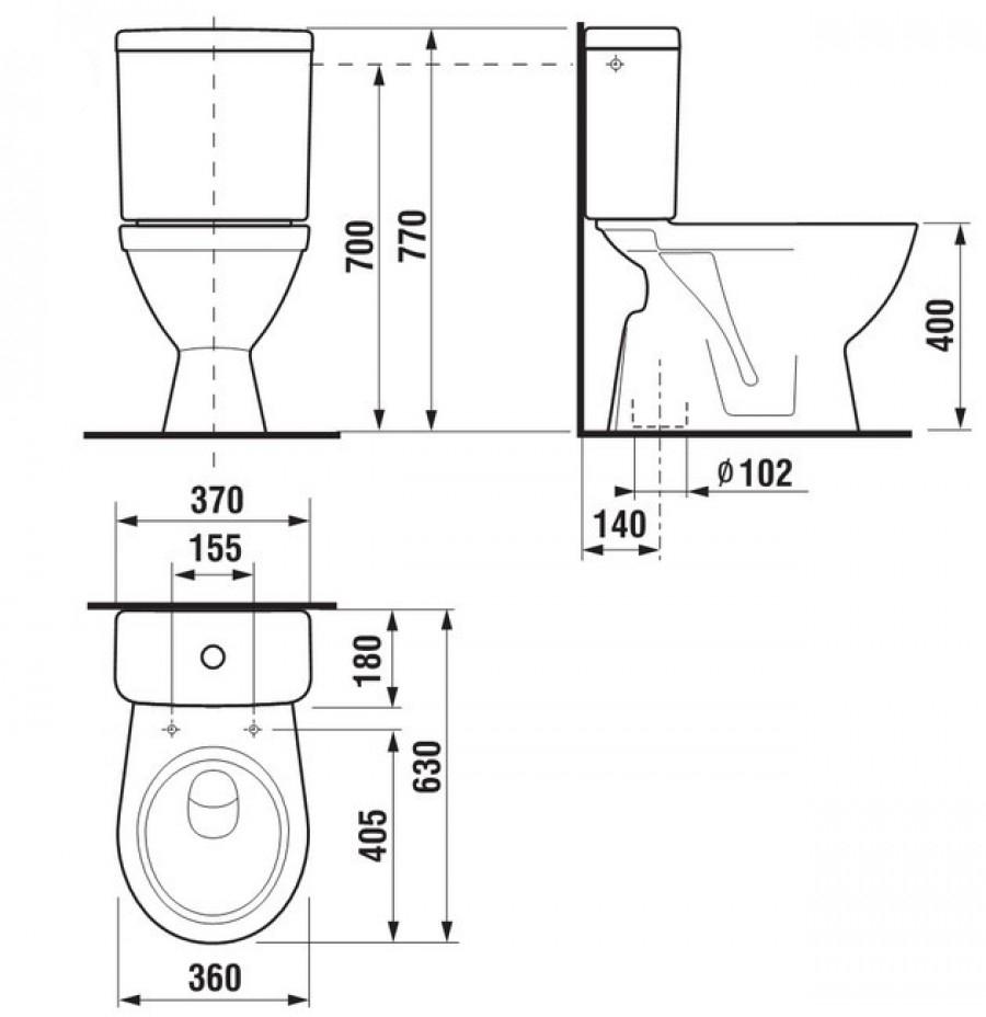 Pack wc lyra plus 3 6l sortie meuble de salle de bain douche baignoire - Wc evacuation verticale ...