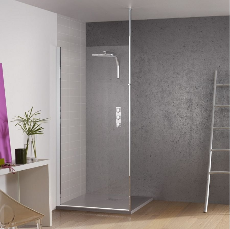 paroi de douche fixe kinespace solo avec m t. Black Bedroom Furniture Sets. Home Design Ideas