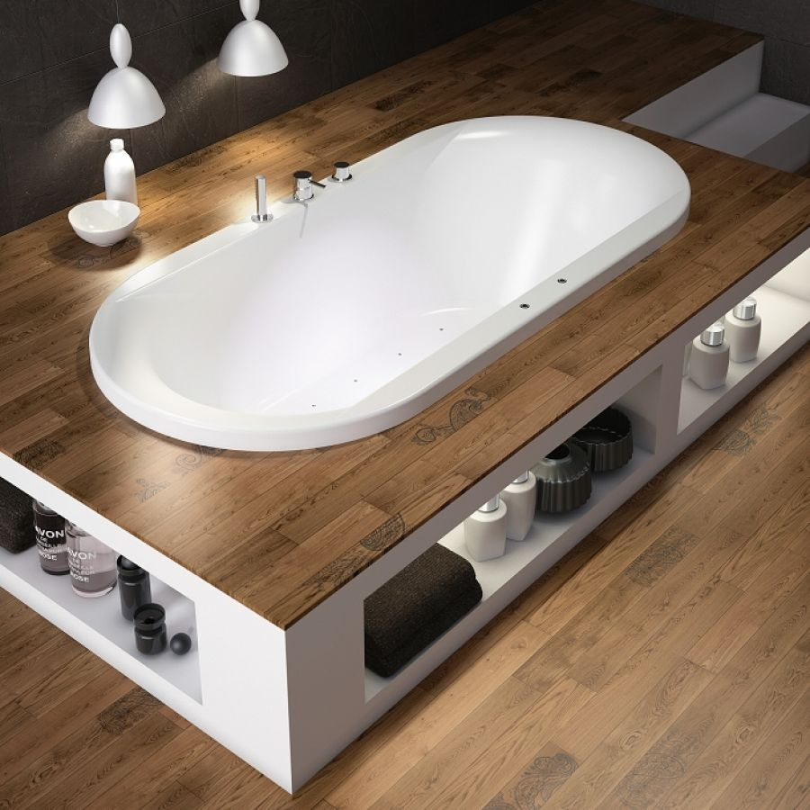 baignoire baln o ovale encastrer 180x85 pl nitude t te meuble de. Black Bedroom Furniture Sets. Home Design Ideas
