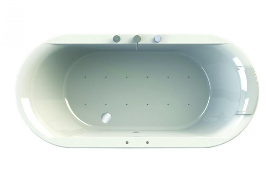 Baignoire baln o ovale encastrer 180x85 pl meuble de s - Marque baignoire balneo ...