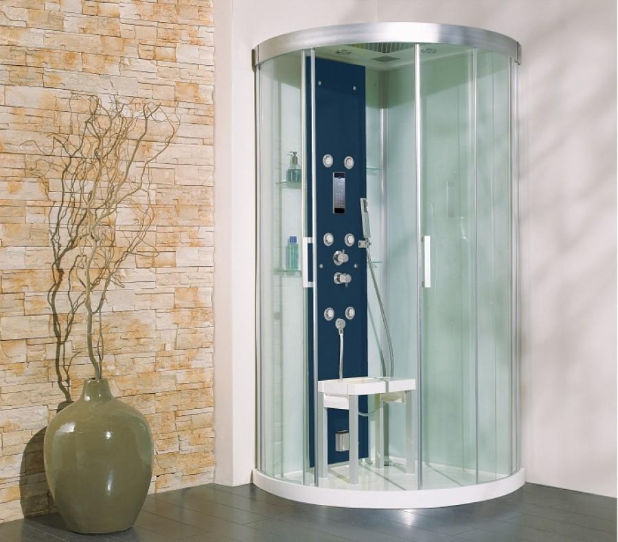 cabine de douche hydromassante hammam 90x90 kineform r meuble de salle de. Black Bedroom Furniture Sets. Home Design Ideas