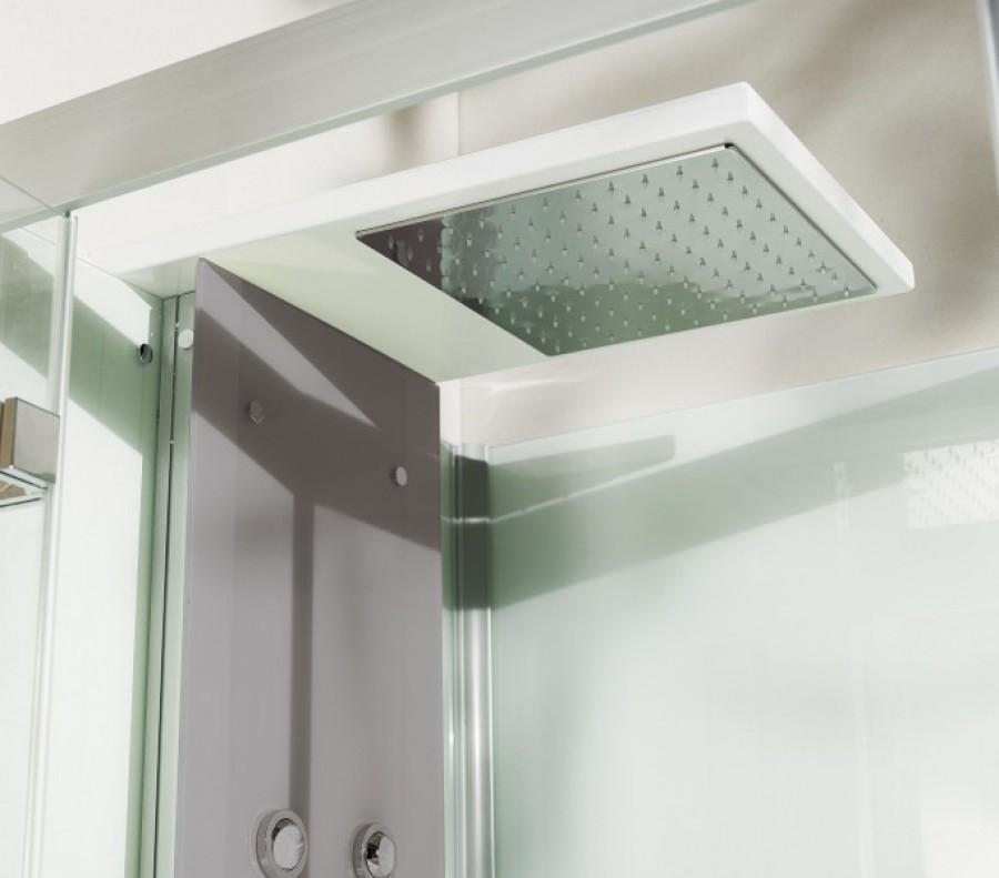 cabine de douche kineform hydrobrumisante 100x80 coulissante acier. Black Bedroom Furniture Sets. Home Design Ideas