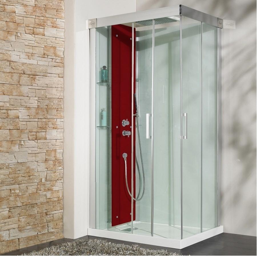 cabine de douche thermostatique 100x80 kineform 100 meuble de salle de bain. Black Bedroom Furniture Sets. Home Design Ideas
