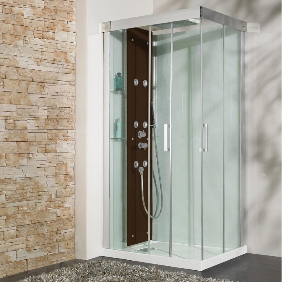 cabine de douche hydromassante 100x80 kineform 100. Black Bedroom Furniture Sets. Home Design Ideas