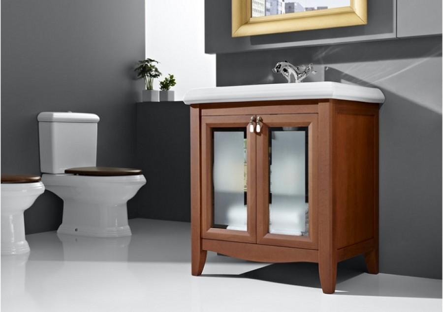 Meuble r tro simple vasque 80cm america - Meuble vasque retro ...