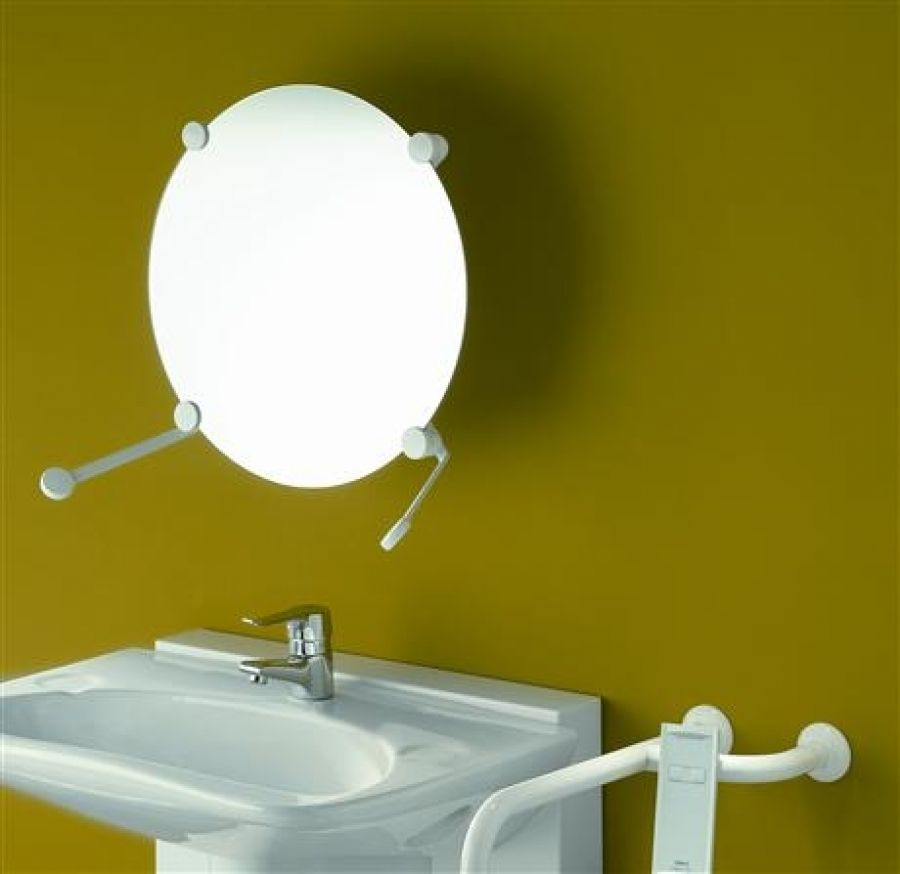 Support miroir orientable multidirectionnel blanc 047590 for Miroir orientable