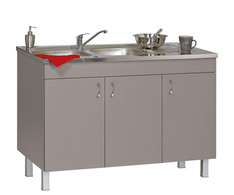 meuble sous evier 120 cm basalte d co clip n meuble de salle de bain douche. Black Bedroom Furniture Sets. Home Design Ideas