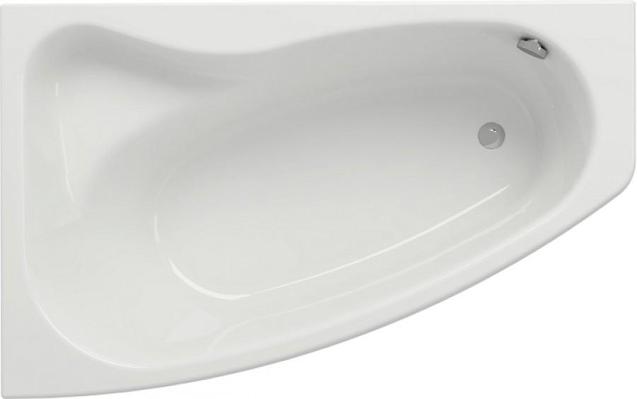 Baignoire nue asym trique gauche 160x100 siciliasanitaire - Resine pour baignoire ...