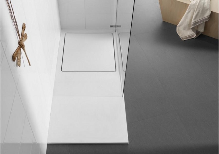 receveur de douche rectangulaire 160x80 glace avec meuble de salle de. Black Bedroom Furniture Sets. Home Design Ideas