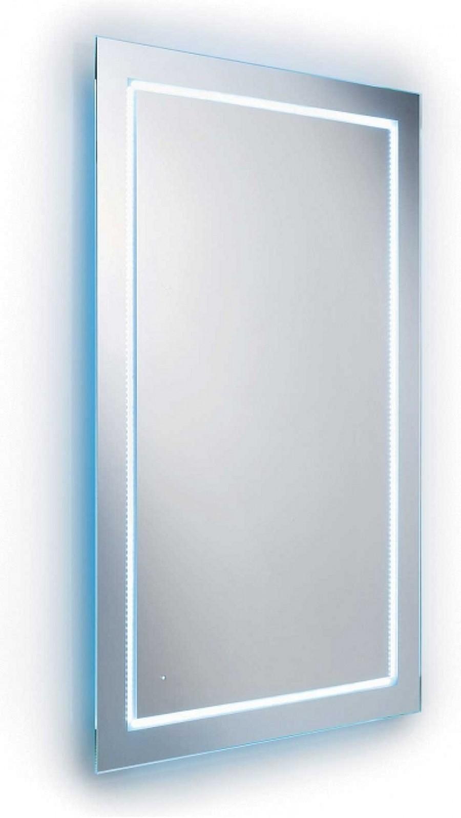 Miroir clairant avec leds blanches 70x80cm for Miroir eclairant