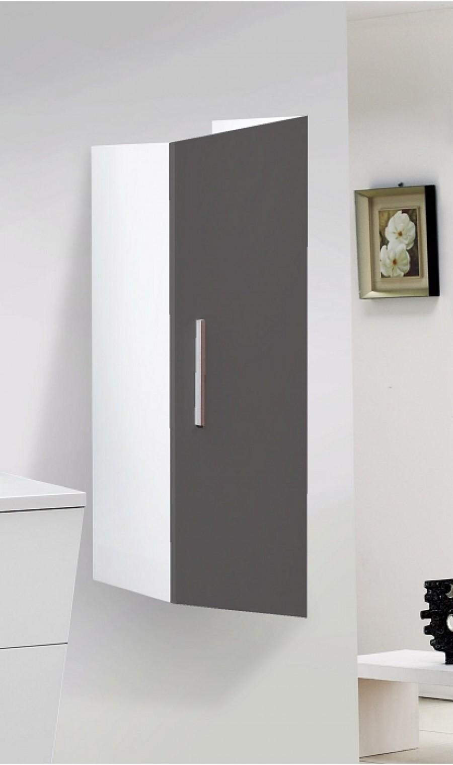 Meuble simple vasque 75cm avec colonne 100cm trapezo for Meuble vasque colonne