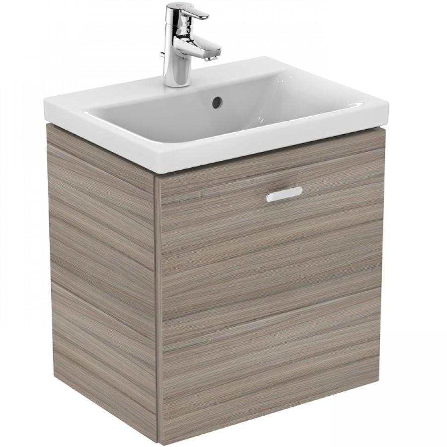 Meuble Simple Vasque Bois - Meuble simple vasque 50cm Bois Blanc Connect Space Sanitaire fr Meuble de salle de bain
