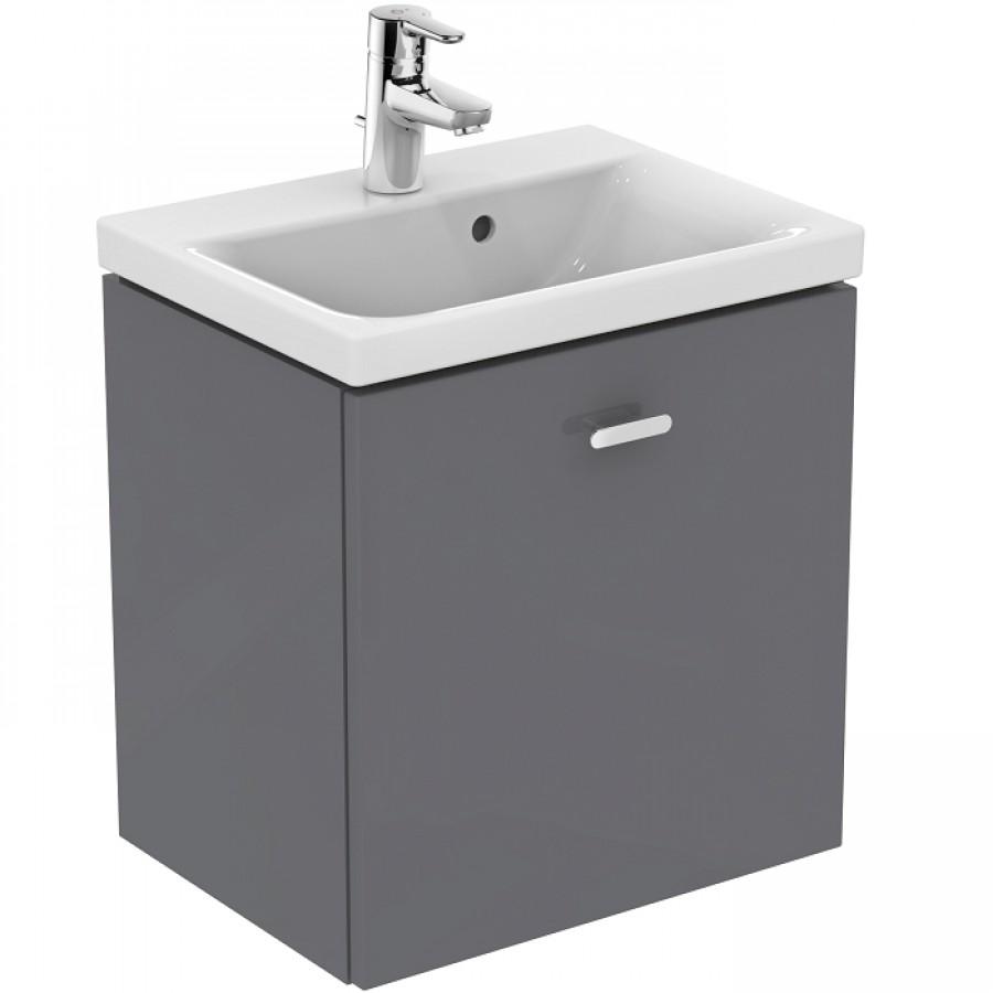 meuble simple vasque 50cm gris macadam connect meuble de salle de bain. Black Bedroom Furniture Sets. Home Design Ideas