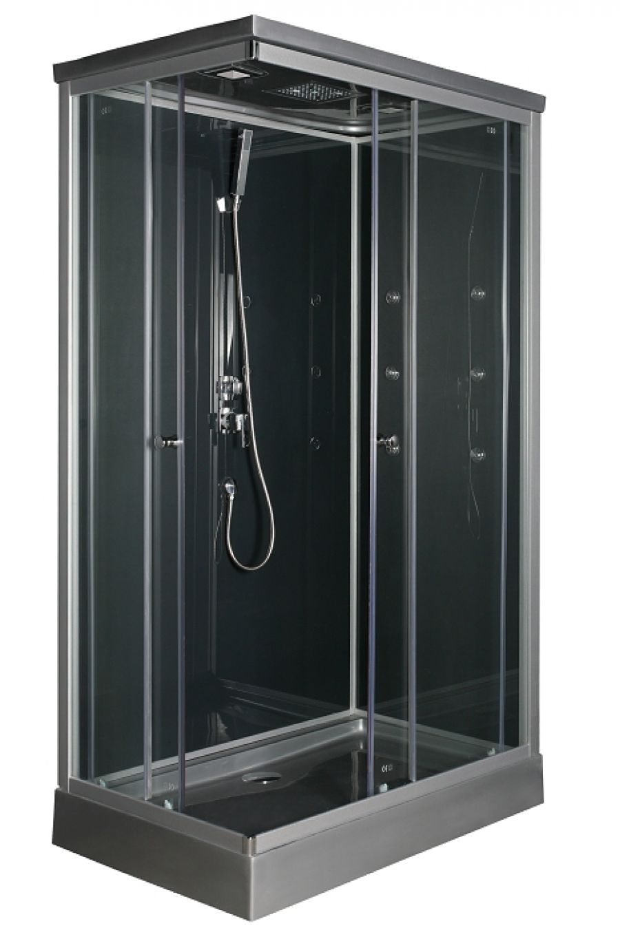 cabine de douche rectangulaire 120x80cm meuble de salle de bain douche. Black Bedroom Furniture Sets. Home Design Ideas