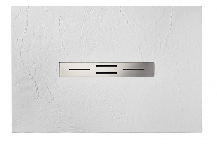 receveur de douche 90x100 blanc coulement lin aire ardesia meuble de salle de. Black Bedroom Furniture Sets. Home Design Ideas