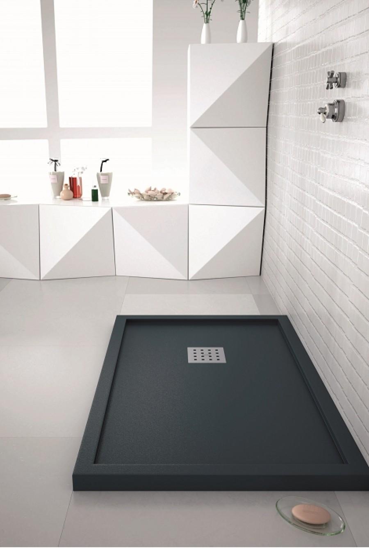 receveur de douche 70x100 liso enmarcado blanc. Black Bedroom Furniture Sets. Home Design Ideas