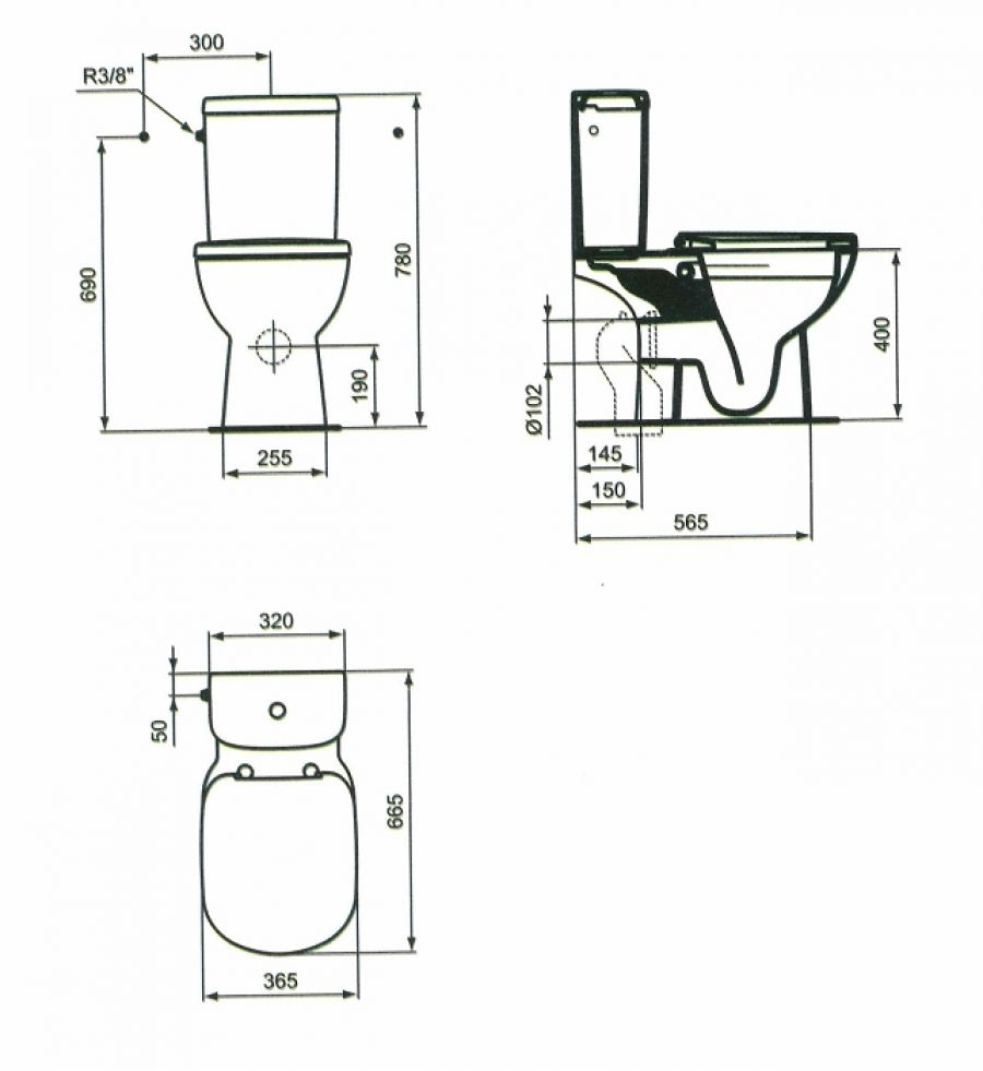 pack wc sans bride sortie horizontale meuble de salle de bain douche. Black Bedroom Furniture Sets. Home Design Ideas