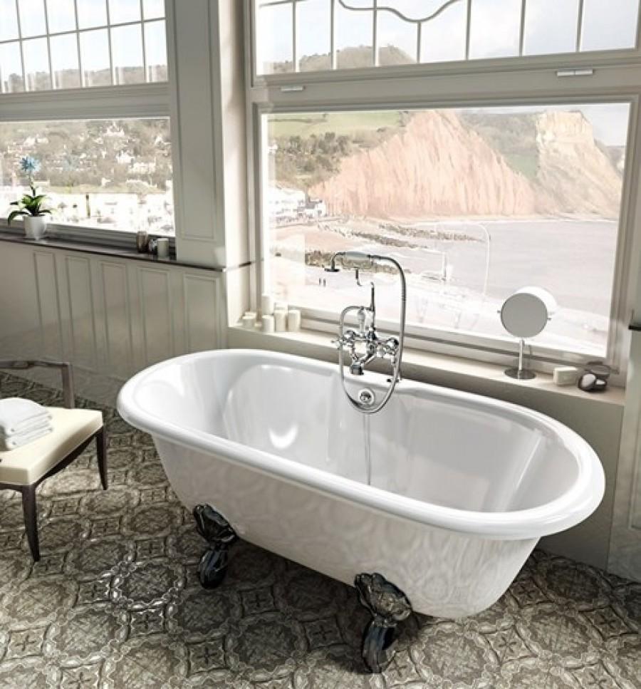 baignoire poser clearwater classico 169cm n9 meuble de salle de bain. Black Bedroom Furniture Sets. Home Design Ideas