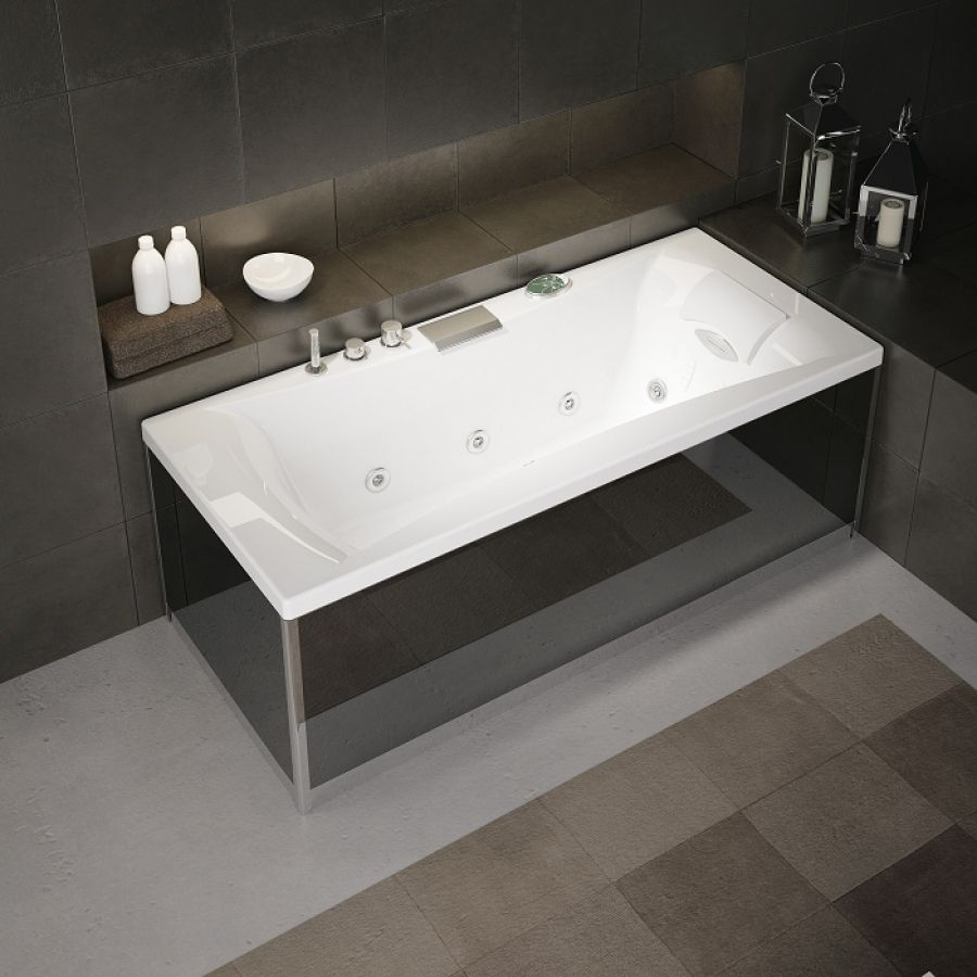 baignoire baln o pl nitude rectangulaire 170x70 t te. Black Bedroom Furniture Sets. Home Design Ideas