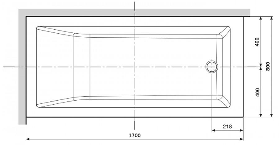 Baignoire rectangulaire nue calos 170x80 avec tablier for Taille baignoire rectangulaire