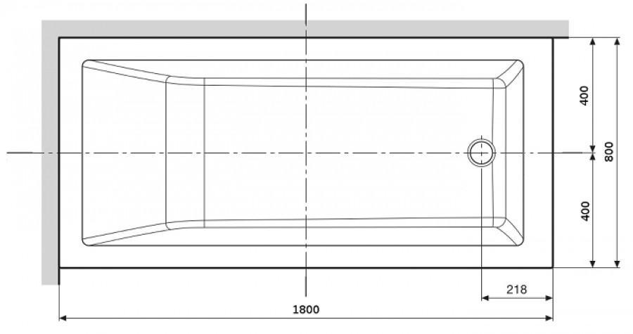 baignoire rectangulaire nue calos 180x80 sans. Black Bedroom Furniture Sets. Home Design Ideas