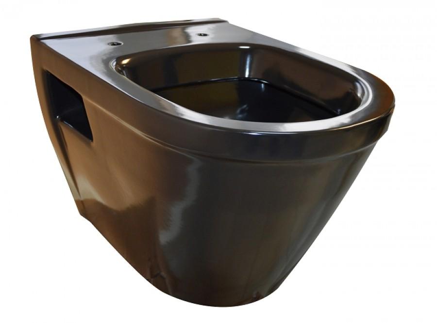 cuvette suspendue en porcelaine noire regiplastsanitaire. Black Bedroom Furniture Sets. Home Design Ideas