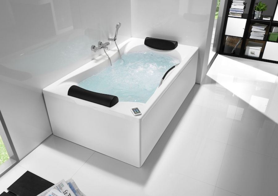 Baignoire double tete becool a encastrer 180x90 for Sanitaire baignoire