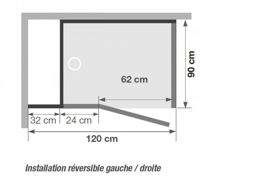 Cabine recirculation d 39 eau kinejet rectangle - Cabine douche rectangulaire 120 x 90 ...