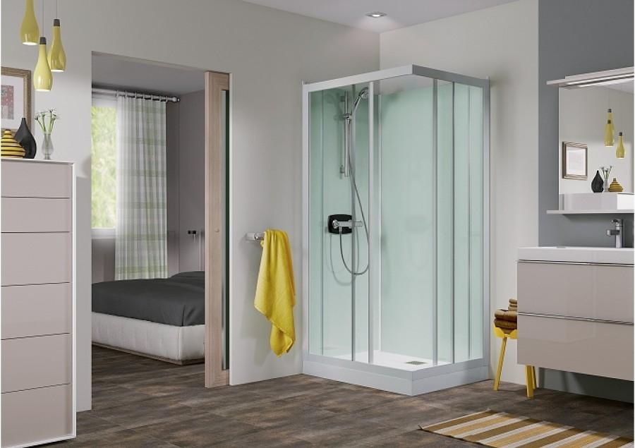 cabine de douche kineprime glass faible hauteur 100 x 80 cm. Black Bedroom Furniture Sets. Home Design Ideas