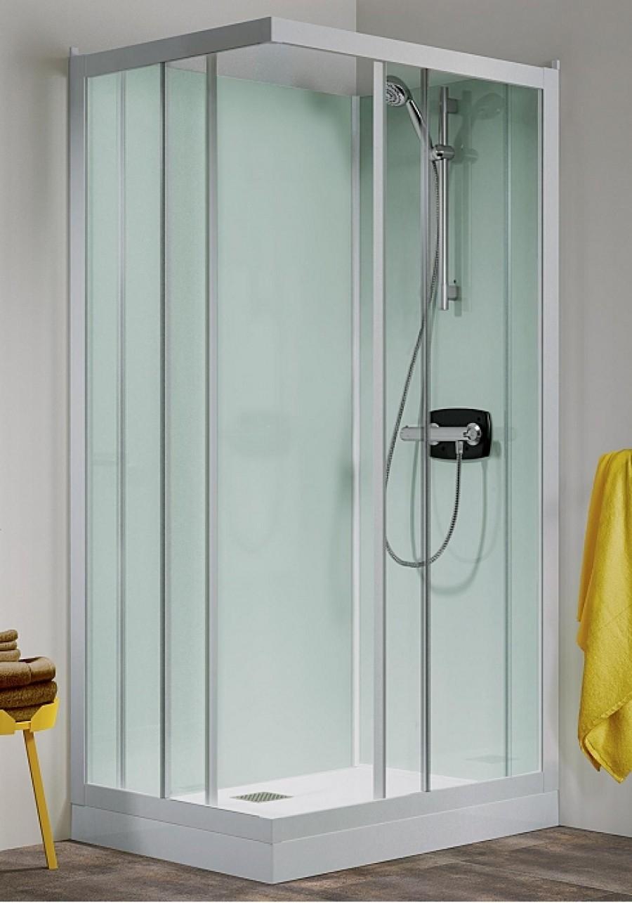 Cabine De Douche Kineprime Glass Faible Hauteur 70 X 70cm