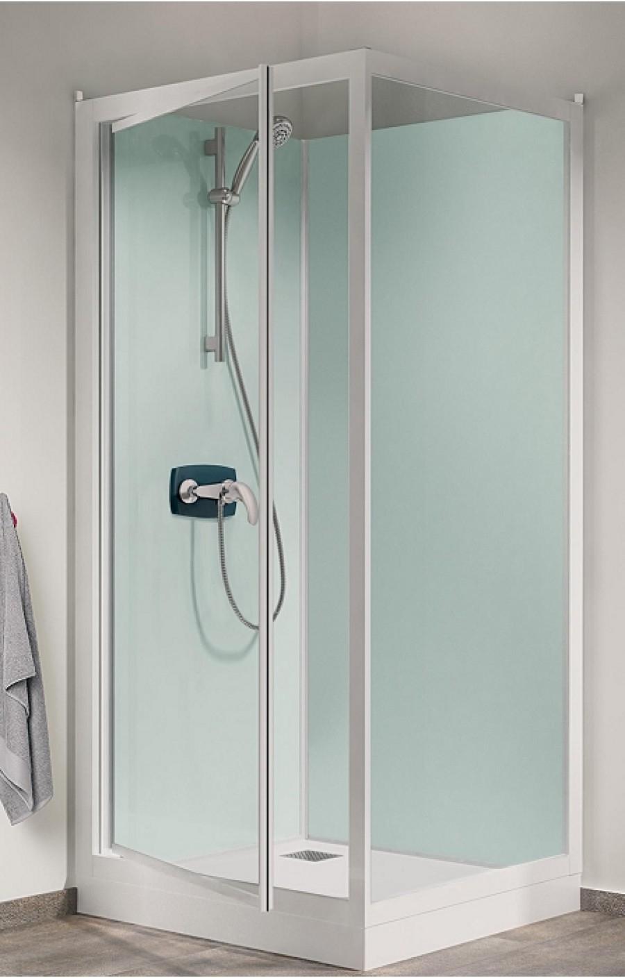 cabine de douche kineprime glass faible hauteur 70 x 70cm. Black Bedroom Furniture Sets. Home Design Ideas