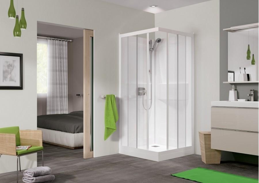 cabine de douche kineprime coulissante 70 x meuble de salle de bain douche. Black Bedroom Furniture Sets. Home Design Ideas