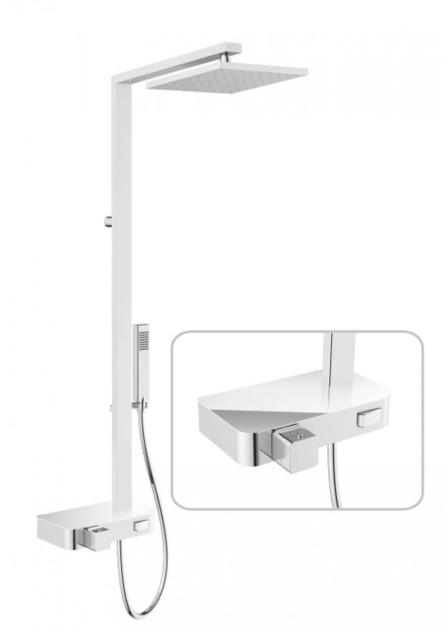colonne de douche flow miroir. Black Bedroom Furniture Sets. Home Design Ideas
