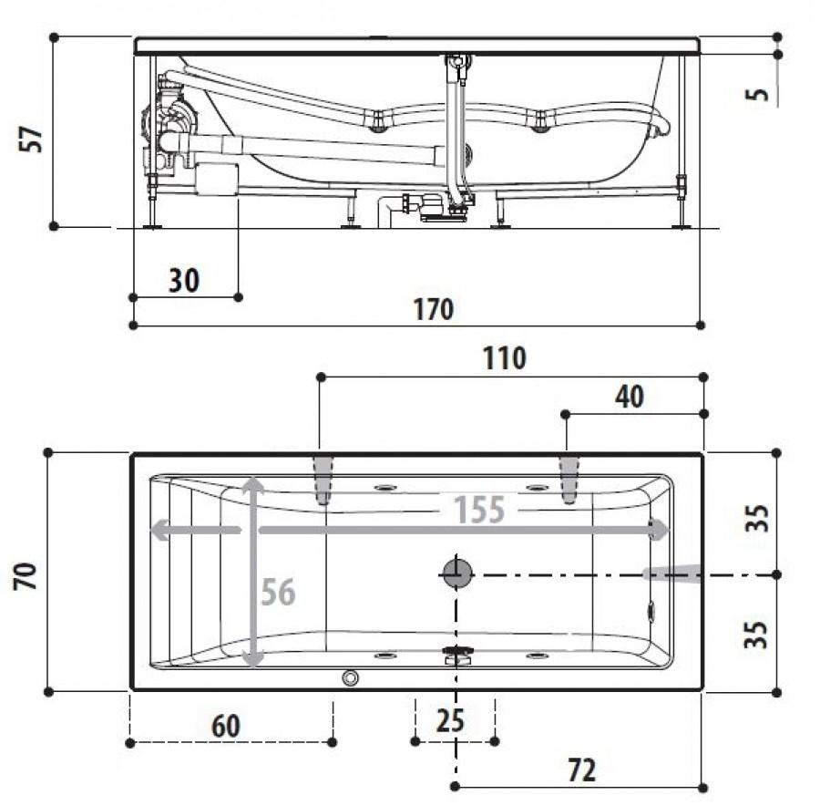 Taille baignoire standard id es de conception sont int ressants votre d cor for Baignoire taille standard