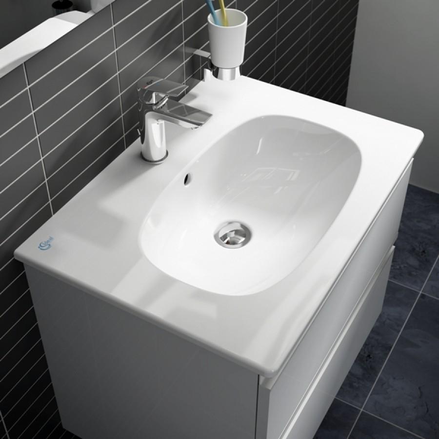 Meuble tesi ideal standard 60cm gris plume for Tesi design ideal standard