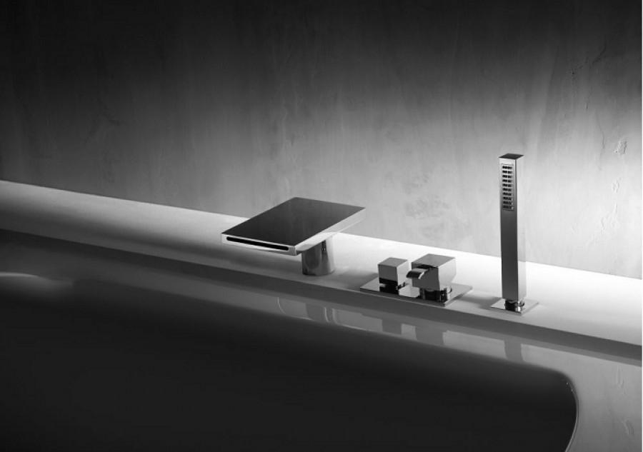 mitigeur bain douche sur gorge quadri meuble de salle de bain douche. Black Bedroom Furniture Sets. Home Design Ideas