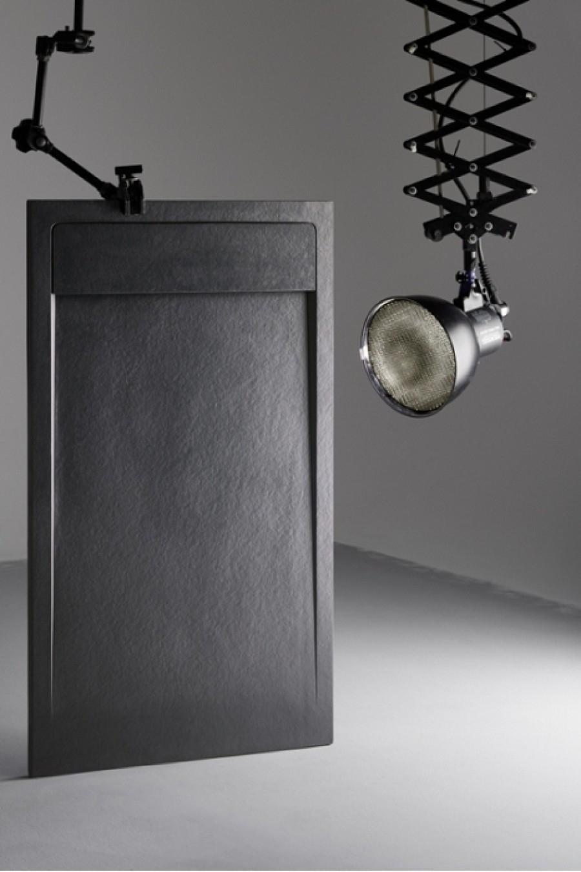 Receveur de douche 80x100 canto graphite for Miroir 90x140