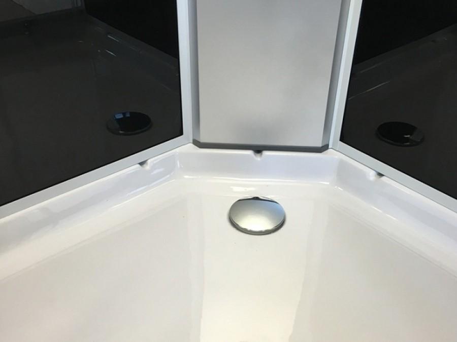 cabine 1 4 de rond 85cm klinty de meuble de salle de bain douche baignoire. Black Bedroom Furniture Sets. Home Design Ideas