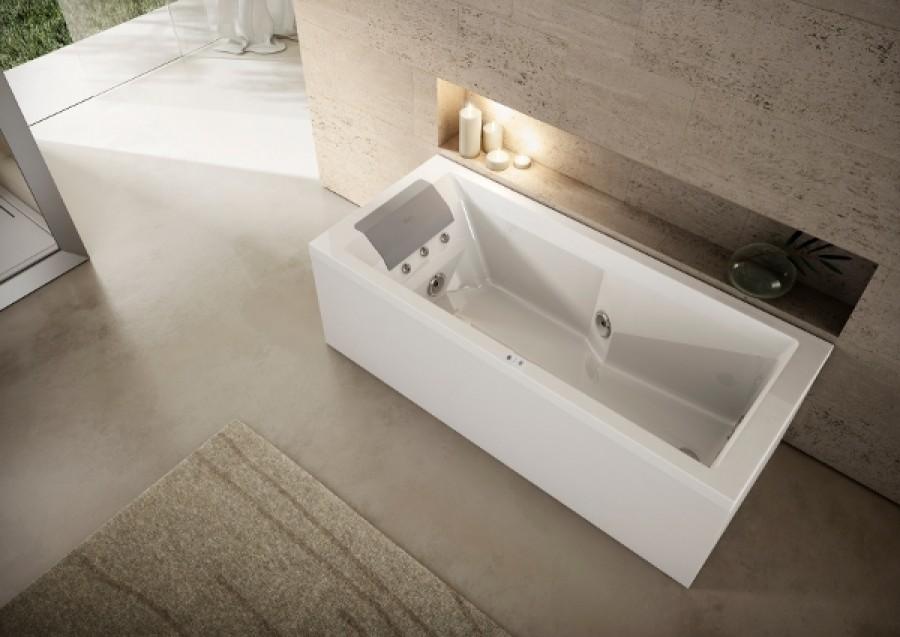 baignoire balneo myway jacuzzi gauche 170 x75 avec meuble de salle de bain. Black Bedroom Furniture Sets. Home Design Ideas