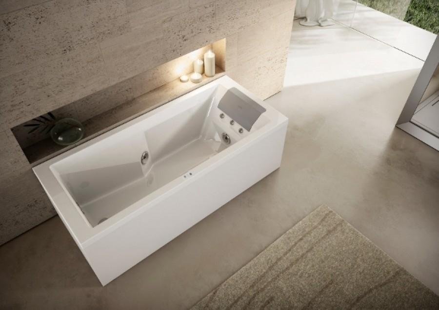 baignoire balneo myway jacuzzi droite 170 x75 avec vidage. Black Bedroom Furniture Sets. Home Design Ideas
