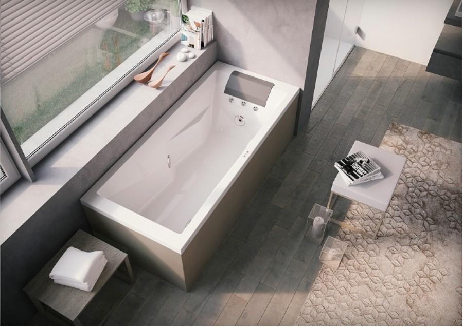 baignoire balneo myway jacuzzi droite 180 x80 avec vidage remplissage par trop. Black Bedroom Furniture Sets. Home Design Ideas