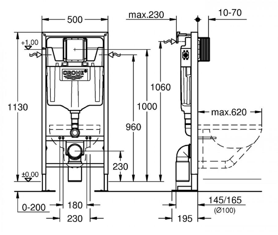 Pack grohe rapid sl cuvette tesi aquablade ideal standard plaque chrom - Schema chasse d eau ...