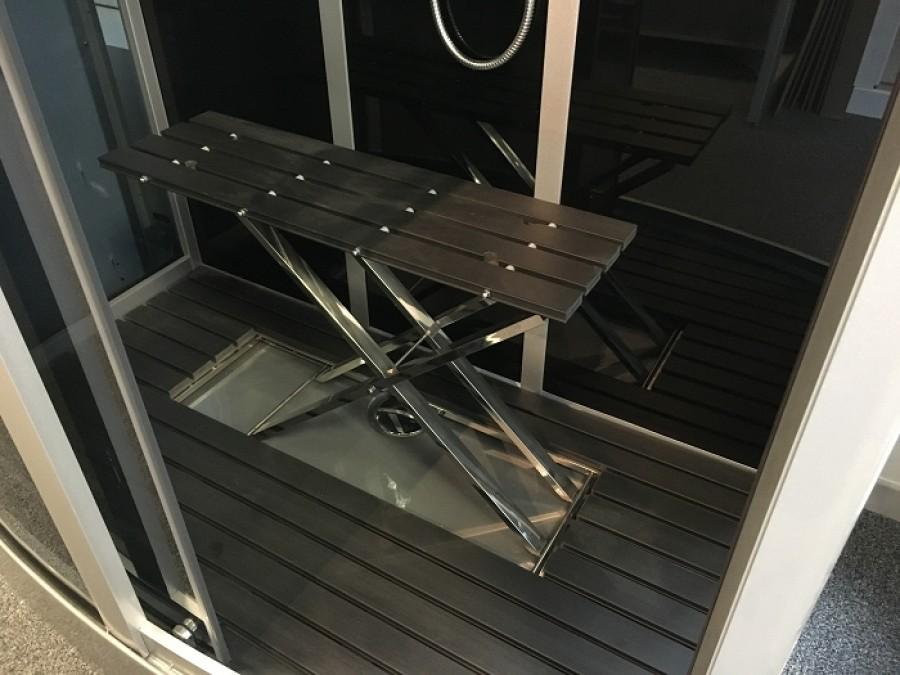 cabine de douche premium rectangulaire 90x115cm meuble de salle de bain. Black Bedroom Furniture Sets. Home Design Ideas